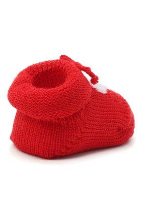 Детские шерстяные пинетки CATYA красного цвета, арт. 024541 | Фото 3
