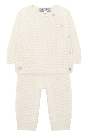 Детский комплект из пуловера и брюк TARTINE ET CHOCOLAT бежевого цвета, арт. TR36011/1M-1A | Фото 1