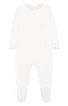 Детский хлопковый комбинезон TARTINE ET CHOCOLAT бежевого цвета, арт. TR54141/1M-1A | Фото 2