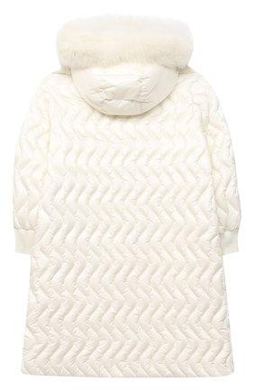 Детское пуховое пальто MONCLER белого цвета, арт. F2-954-1C201-12-53048/8-10A | Фото 2