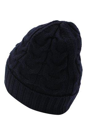 Детского шерстяная шапка MONCLER темно-синего цвета, арт. F2-954-3B715-20-04S02 | Фото 2