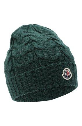 Детского шерстяная шапка MONCLER темно-зеленого цвета, арт. F2-954-3B715-20-04S02 | Фото 1