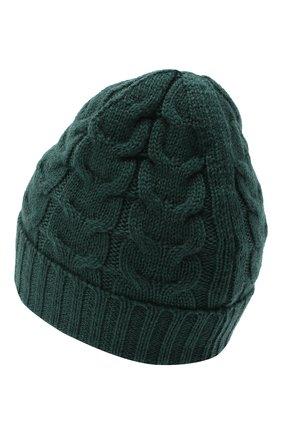 Детского шерстяная шапка MONCLER темно-зеленого цвета, арт. F2-954-3B715-20-04S02 | Фото 2