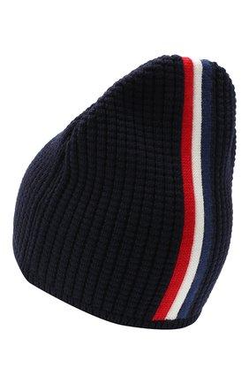 Детского шерстяная шапка MONCLER темно-синего цвета, арт. F2-954-9Z703-20-A9364 | Фото 2