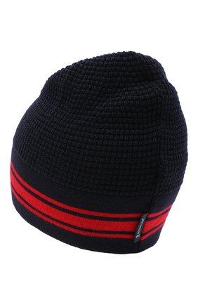 Детского шерстяная шапка MONCLER темно-синего цвета, арт. F2-954-9Z704-20-A9366 | Фото 2
