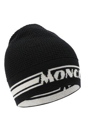 Детского шерстяная шапка MONCLER черного цвета, арт. F2-954-9Z704-20-A9366 | Фото 1