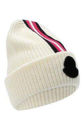 Детского шерстяная шапка MONCLER белого цвета, арт. F2-954-9Z708-10-A9403 | Фото 1