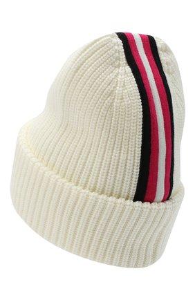 Детского шерстяная шапка MONCLER белого цвета, арт. F2-954-9Z708-10-A9403 | Фото 2