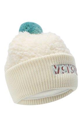 Детского шапка MONCLER бежевого цвета, арт. F2-954-3B714-10-899A9 | Фото 1
