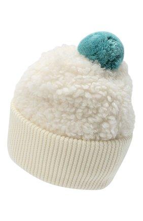 Детского шапка MONCLER бежевого цвета, арт. F2-954-3B714-10-899A9 | Фото 2