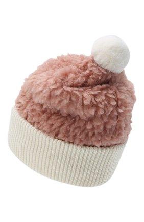 Детского шапка MONCLER розового цвета, арт. F2-954-3B714-10-899A9 | Фото 2