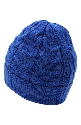 Детского шерстяная шапка MONCLER синего цвета, арт. F2-954-3B715-20-04S02 | Фото 2