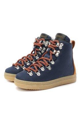 Детские замшевые ботинки DSQUARED2 синего цвета, арт. 65157/M0RBID0NE/28-35 | Фото 1