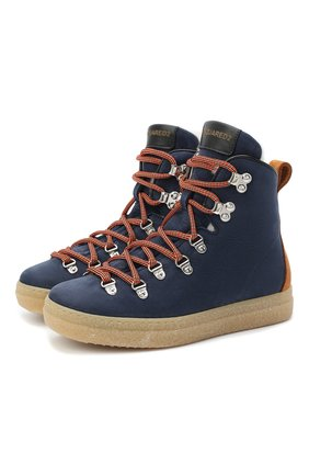 Детские замшевые ботинки DSQUARED2 синего цвета, арт. 65157/M0RBID0NE/36-41 | Фото 1