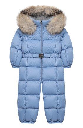 Детского пуховый комбинезон MONCLER голубого цвета, арт. F2-951-1G506-02-53079/18M-3A | Фото 1