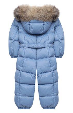 Детского пуховый комбинезон MONCLER голубого цвета, арт. F2-951-1G506-02-53079/18M-3A | Фото 2