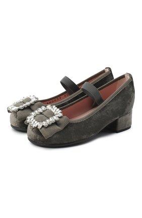 Детские туфли PRETTY BALLERINAS серого цвета, арт. 49.116/AFR0DITE-D0/ANGELIS | Фото 1