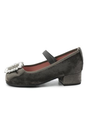 Детские туфли PRETTY BALLERINAS серого цвета, арт. 49.116/AFR0DITE-D0/ANGELIS | Фото 2