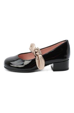 Детские кожаные туфли PRETTY BALLERINAS черного цвета, арт. 49.118/SHADE/AMI | Фото 2
