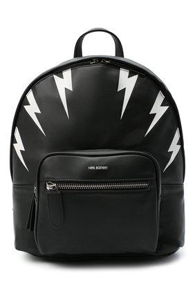 Детская рюкзак NEIL BARRETT KIDS черного цвета, арт. 026304 | Фото 1