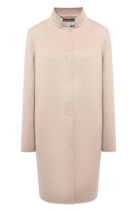 Женское кашемировое пальто MANZONI24 светло-бежевого цвета, арт. 20M507-WS1/38-46 | Фото 1