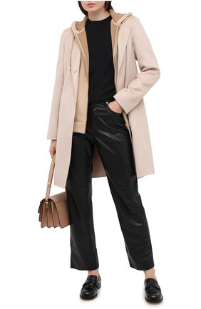 Женское кашемировое пальто MANZONI24 светло-бежевого цвета, арт. 20M507-WS1/38-46 | Фото 2