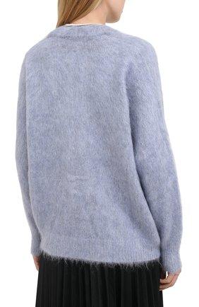 Женский кардиган из шерсти и кашемира BRUNELLO CUCINELLI голубого цвета, арт. M8U590826   Фото 5