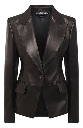 Женский кожаный жакет TOM FORD черного цвета, арт. GIL448-LEX228 | Фото 1