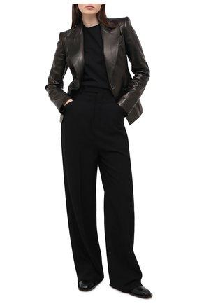 Женский кожаный жакет TOM FORD черного цвета, арт. GIL448-LEX228 | Фото 2