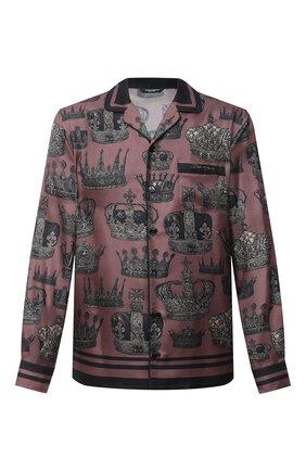 Мужская шелковая рубашка DOLCE & GABBANA бордового цвета, арт. G5EM2T/FI103 | Фото 1