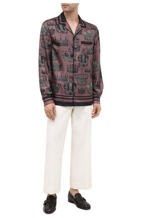 Мужская шелковая рубашка DOLCE & GABBANA бордового цвета, арт. G5EM2T/FI103 | Фото 2