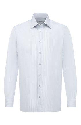Мужская хлопковая сорочка ZILLI голубого цвета, арт. MFU-1803-1216/0002 | Фото 1