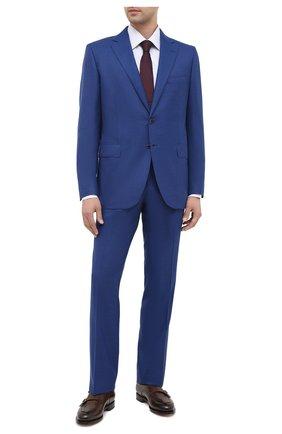 Мужская хлопковая сорочка ZILLI голубого цвета, арт. MFU-1803-1216/0002 | Фото 2
