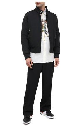 Мужская хлопковая рубашка OFF-WHITE белого цвета, арт. 0MGA138F20FAB0020140   Фото 2