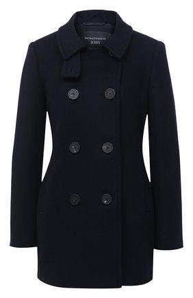 Женское шерстяное пальто EMPORIO ARMANI синего цвета, арт. 0NB50T/02650   Фото 1