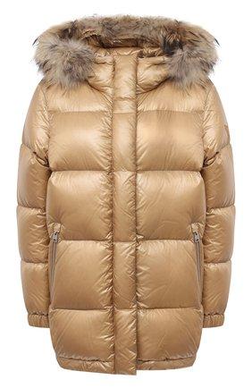 Женский пуховая куртка WOOLRICH бежевого цвета, арт. CFWW0U0285FR/UT1702 | Фото 1