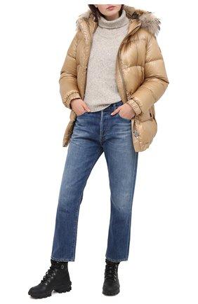 Женский пуховая куртка WOOLRICH бежевого цвета, арт. CFWW0U0285FR/UT1702 | Фото 2