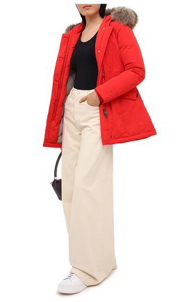 Женская пуховая парка WOOLRICH красного цвета, арт. CFWW0U0296FR/UT0573 | Фото 2