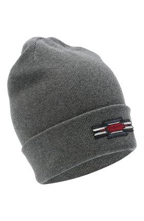 Женский шапка из хлопка и шерсти ISABEL MARANT темно-серого цвета, арт. BE0009-20A032A/HART | Фото 1