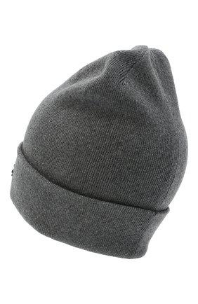Женский шапка из хлопка и шерсти ISABEL MARANT темно-серого цвета, арт. BE0009-20A032A/HART | Фото 2
