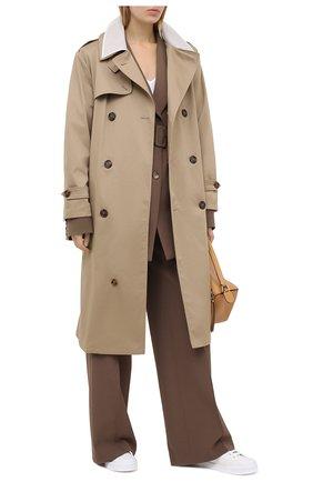 Женские кожаные кеды portofino DOLCE & GABBANA белого цвета, арт. CK1802/AW113 | Фото 2