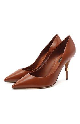 Женская кожаные туфли cardinale DOLCE & GABBANA светло-коричневого цвета, арт. CD1571/AW549 | Фото 1