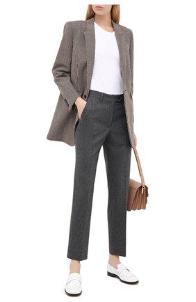 Женские брюки из шерсти и кашемира KITON серого цвета, арт. D38103K05N25 | Фото 2