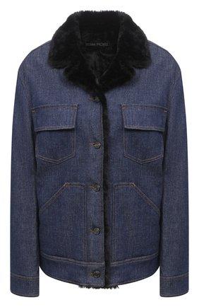 Женская джинсовая куртка TOM FORD синего цвета, арт. GID040-DEX109 | Фото 1