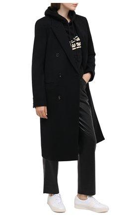 Женские кожаные кеды TOM FORD белого цвета, арт. W2817N-TAP002 | Фото 2