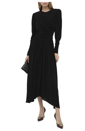 Женские кожаные туфли devotion DOLCE & GABBANA бордового цвета, арт. CD1471/AV967   Фото 2