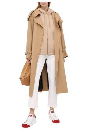 Женские кожаные кеды portofino DOLCE & GABBANA красного цвета, арт. CK1802/AW113 | Фото 2