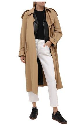 Женские кожаные кеды TOD'S черного цвета, арт. XXW68C0DP300V7   Фото 2