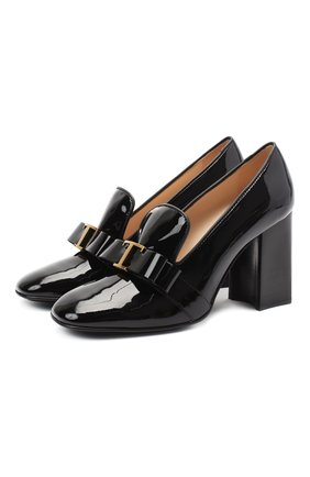 Женская кожаные туфли TOD'S черного цвета, арт. XXW70C0DH80CWW   Фото 1