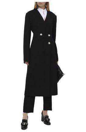 Женская кожаные туфли TOD'S черного цвета, арт. XXW70C0DH80CWW   Фото 2